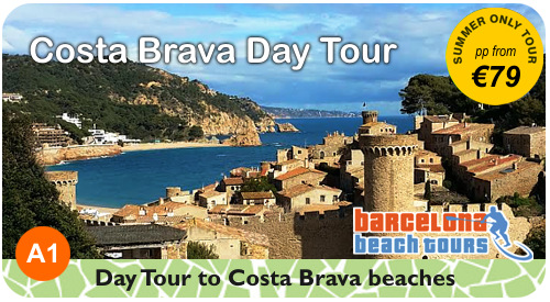 Book tours to Costa Brava and other beaches outside Barcelona