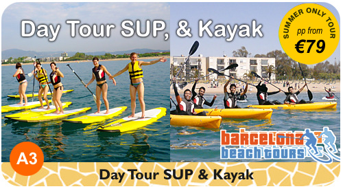 SUP paddle surf beach tour Barcelona